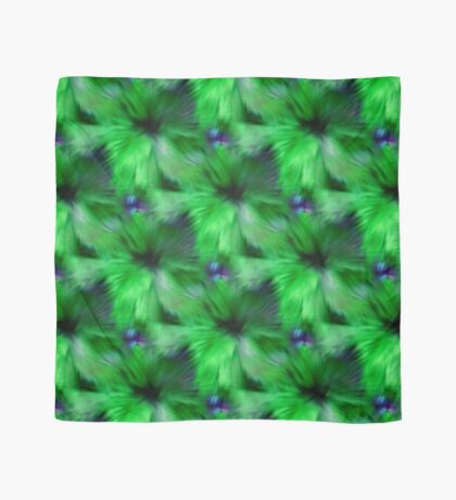 Brilliant Green Abstract Strokes Scarf