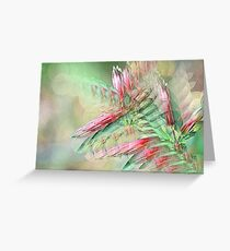 Flowers in abstract form Greeting Card