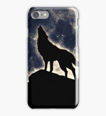 Wolf, moon, fantasy, wild, dog, wolves, sky, night iPhone Case/Skin