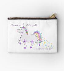 Always leave a little sparkle - Unicorn art  Studio Pouch