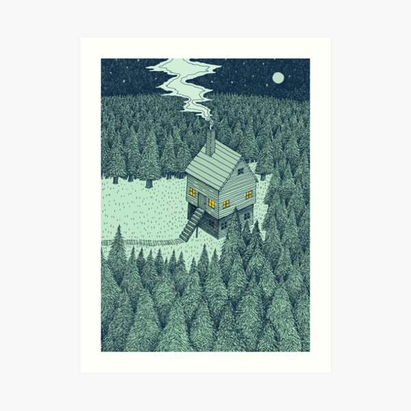 The Middle Of Nowhere (Colour) Art Print
