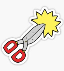 cartoon scissors Sticker