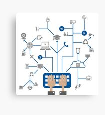 Science a network Canvas Print