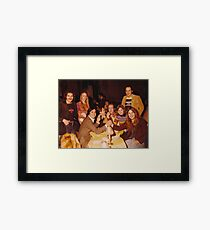 At Dinner Framed Print