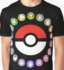 Pokemon Type Wheel Graphic T-Shirt