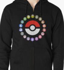 Pokemon Type Wheel Zipped Hoodie