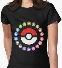 Pokemon Type Wheel Womens Fitted T-Shirt