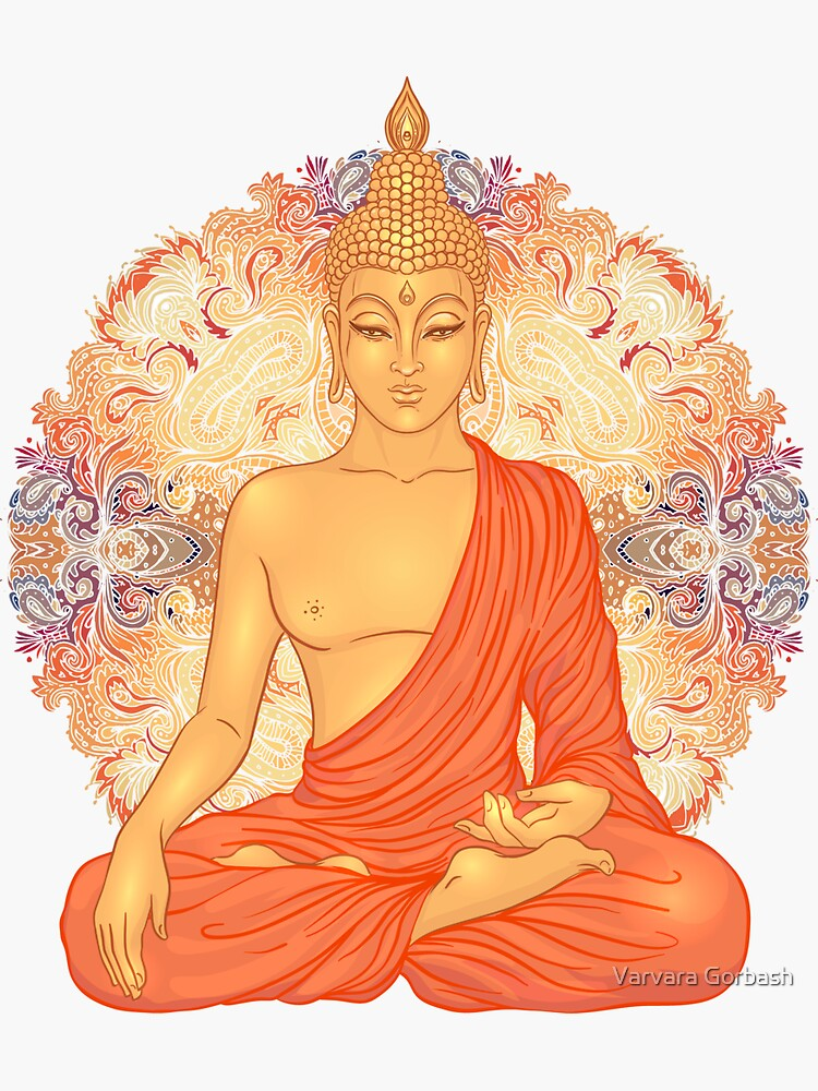 Golden Buddha + Mandala by varka