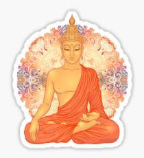 Golden Buddha + Mandala Sticker