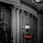 Paris Metro Sign by Lynn Bolt