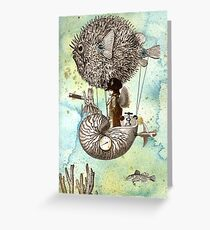 Flotilla - Claude & Blowfish Greeting Card