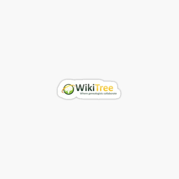 WikiTree: Where genealogists collaborate Sticker