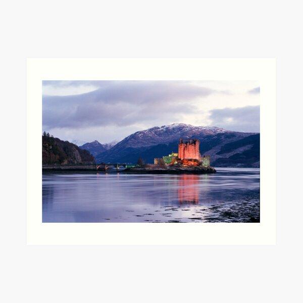 Eilean Donan Castle in winter  Art Print