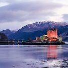 Eilean Donan Castle in winter  by David Rankin