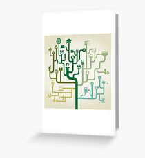 Science abstraction Greeting Card