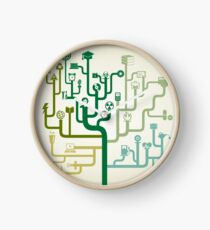 Science abstraction Clock
