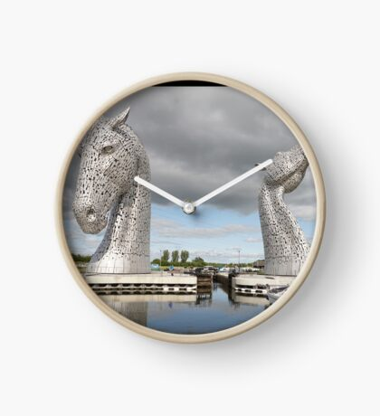 The Kelpies sculptures  Clock