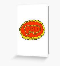 cartoon POP symbol Greeting Card