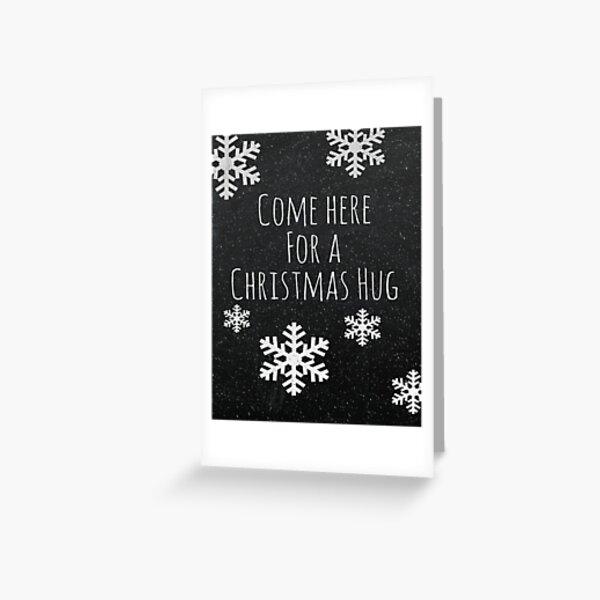 Christmas Hug Greeting Card