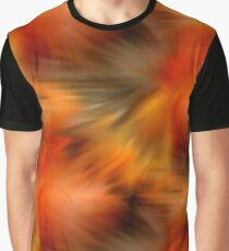 Abstract Orange Brown Yellow Colors Graphic T-Shirt