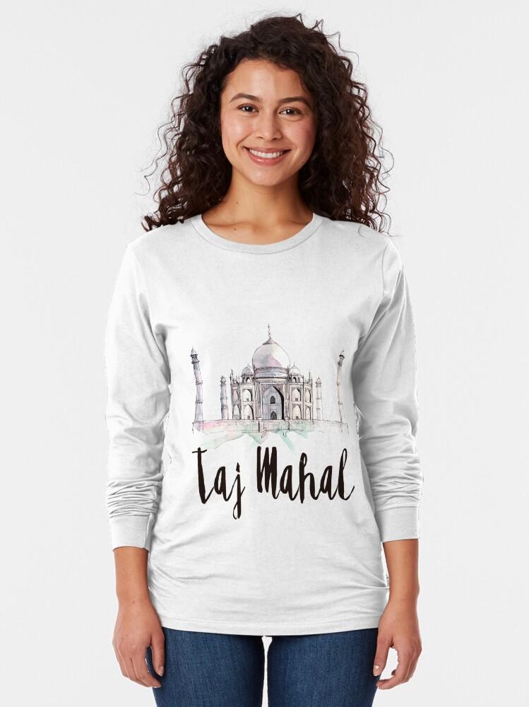 Alternate view of Taj Mahal Long Sleeve T-Shirt