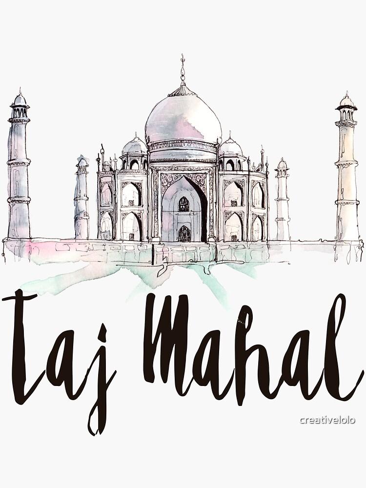 Taj Mahal by creativelolo