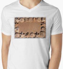 Christmas cookies background Mens V-Neck T-Shirt