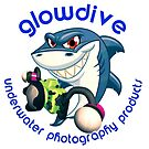 Glowdive shark dark blue caption by Carlos Villoch