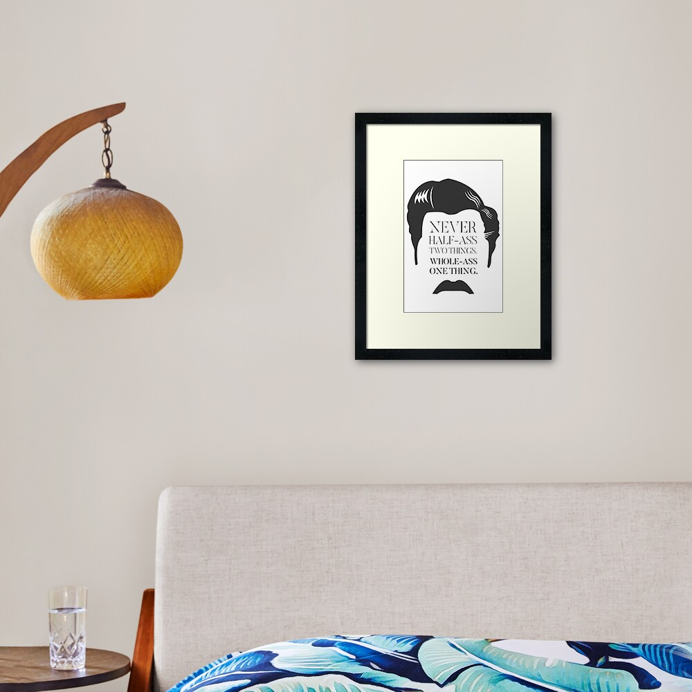 Ron Swanson Framed Art Print By Chrisseed Redbubble