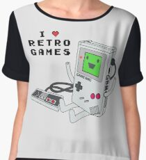 GBMO, The Retrogames Lover Chiffon Top