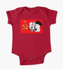CORBYN, ELECTION, POLITICS, Red Flag, Comrade Corbyn, Leader, Labour Party, Black on White One Piece - Short Sleeve