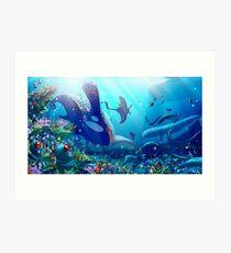 Poke Marine Biology Art Print
