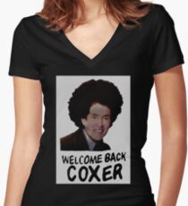 Scrubs - Welcome Back Coxer Women's Fitted V-Neck T-Shirt