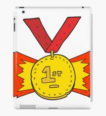 cartoon first place medal iPad Case/Skin