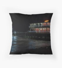 Jimmy's on the ocean Throw Pillow