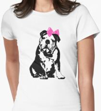 Betty Bulldog Women's Fitted T-Shirt