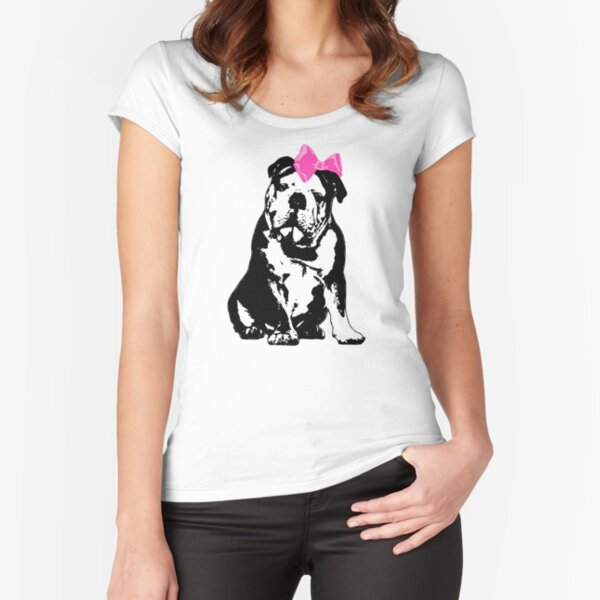 Betty Bulldog Fitted Scoop T-Shirt