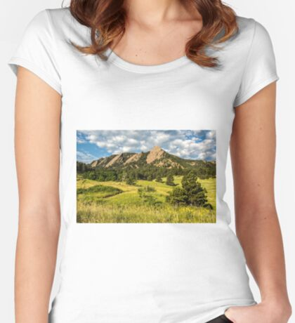 Delicious Vanilla Clouds On A Summer Chautauqua Morning Women's Fitted Scoop T-Shirt