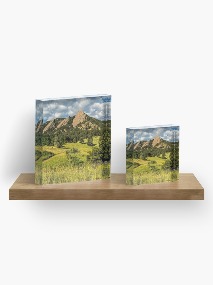 Alternate view of Delicious Vanilla Clouds On A Summer Chautauqua Morning Acrylic Block