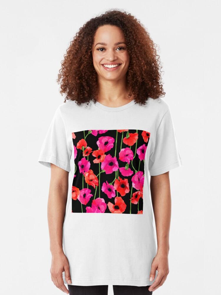 Vista alternativa de Camiseta ajustada patrón floral
