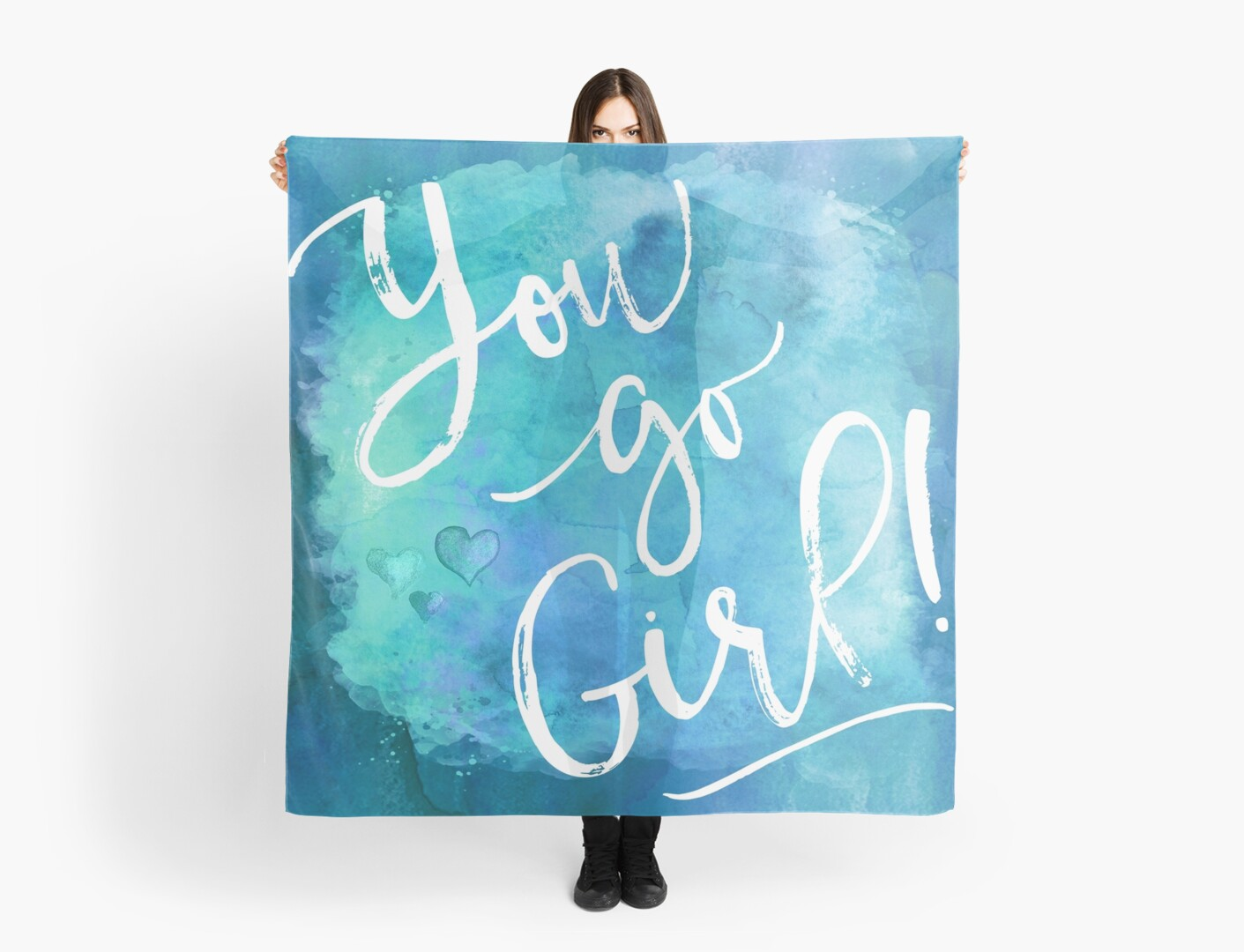 You Go Girl Watercolor Motivational Quote Inspirational Quotes In
