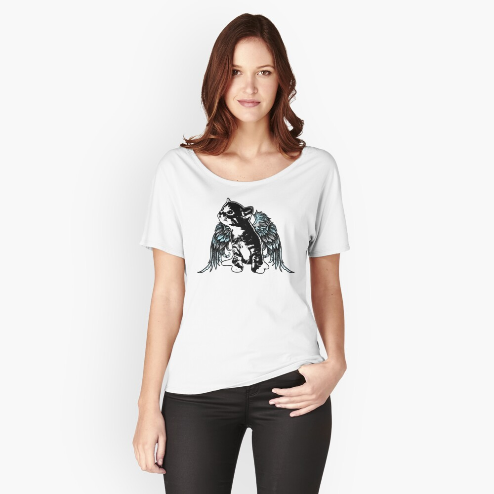 Angel Kitty Relaxed Fit T-Shirt