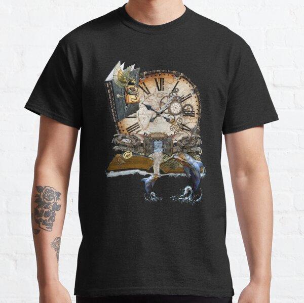 Steampunk Dragon Library Classic T-Shirt