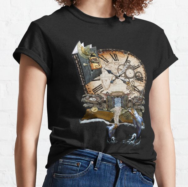 Steampunk Dragon Library Classic T-Shirt
