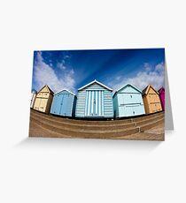 Felixstowe Beach Huts Greeting Card