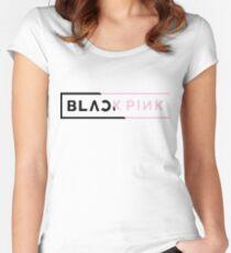 Schwarz Rosa 2.0 Tailliertes Rundhals-Shirt