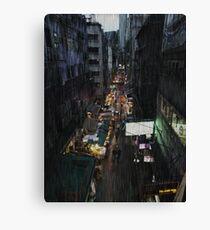 Hong Kong Noir, Market Canvas Print