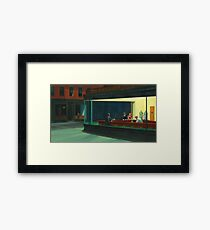 Lámina enmarcada Vintage Edward Hopper Nighthawks Diner