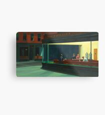 Vintage Edward Hopper Nighthawks Diner Metal Print