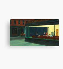 Vintage Edward Hopper Nighthawks Diner Canvas Print